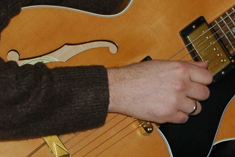 Guitar close up photo